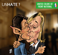 United colors of Marine le Pen